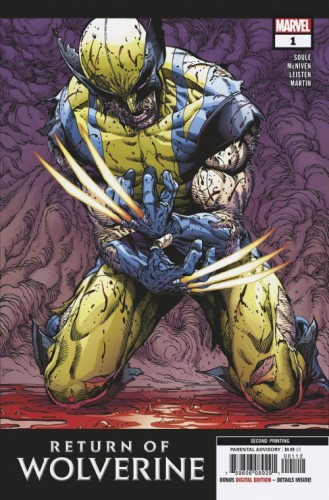 RETURN OF WOLVERINE #1 (OF 5) 2ND PTG MCNIVEN VAR