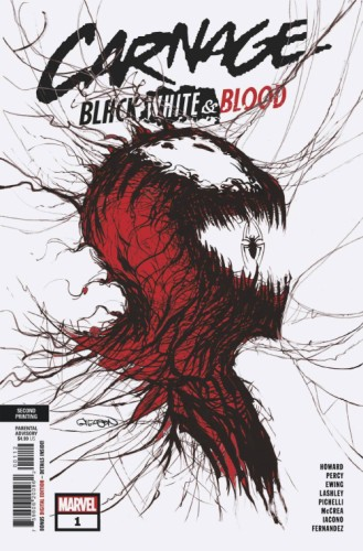 CARNAGE BLACK WHITE AND BLOOD #1 (OF 4) 2ND PTG GLEASON VAR