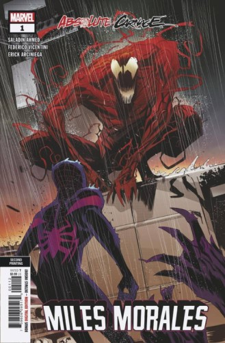 ABSOLUTE CARNAGE MILES MORALES #1 (OF 3) 2ND PTG VICENTINI V