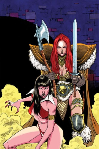VAMPIRELLA RED SONJA #11 7 COPY PEEPLES HOMAGE INCV