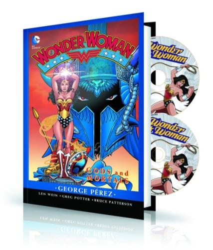 WONDER WOMAN GODS & MORTAL HC BOOK & DVD BLU RAY SET